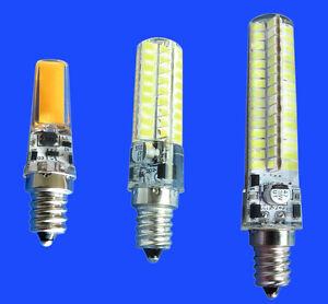 E12 3W/5W/7W C7 Candelabra LED bulb 72/120 5730SMD/COB DC12~24V AC12V Silicone