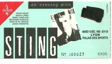 RARE / TICKET BILLET CONCERT - STING ( THE POLICE ) LIVE A LYON ( FRANCE ) 1985