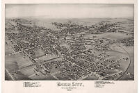 Union City, Erie County, Pennsylvania. Antique Birdseye Map; 1895