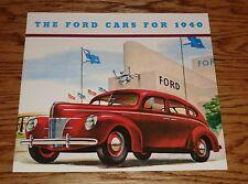 1940 Ford Car Full Line Sales Brochure 40 V-8 Coupe Sedan De Luxe