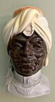 Vintage Royal Copley Blackamoor Head Vase Wall Pocket India Prince Planter