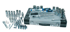 "Mannesmann Premium Trinquete Socket Set 94 piezas 1/2""/1/4"" Acero S2 Acabado Azul"