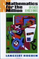 MATHEMATICS FOR THE MILLION/HOW TO MASTER THE  - LANCELOT HOGBEN (PAPERBACK) NEW