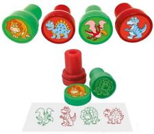 6 Dinosaur Ink Stamps - Pinata Toy Loot/Party Bag Fillers Childrens/Kids