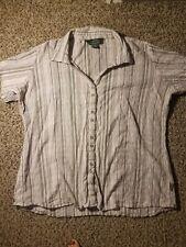 Woolrich xxl womens Button Up Shirt Short Sleeved
