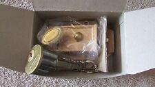 Deluxe Rim Night Latch/Deadbolt Lock - Single Solid Brass 5-Pin Cylinder
