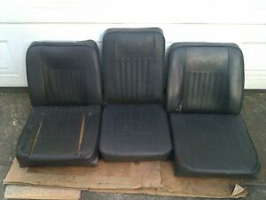 Land Rover Series 3 Front Seats Set Of Three With Frames