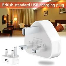 USB Adapter Charger 3 Pin UK Main Plug For Phone iPhone 5 6 7 8 X XR XSMAX iPAD