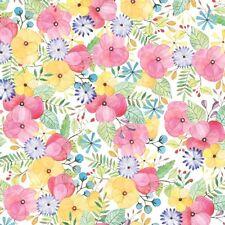 Flower Petal Tissue Paper # 385  ..10 large sheets - Pastel Watercolor Floral