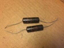 2 NOS Vintage Sprague Black Beauty .22 uf 400v Capacitors 160P TESTED (Qty Avail