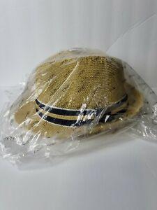 Straw Fedora Summer Hat Men's