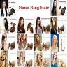 "14""-24"" Nano Ring Tip 1GRAM Micro Bead Human Hair Extensions Double Drawn 1G USA"