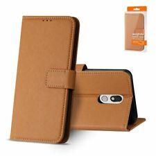 Reiko LG Stylo 5 3-In-1 Wallet Case In Brown | MaxStrata