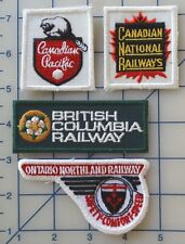 4pc Lot VTG Railroad Patch Canadian Pacific Ontario British Columbia Railway