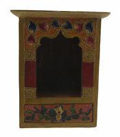 Tempio Tibetano Altare Buddista Cuccia Cassetto Bodhisattva Lotus 21.5x17cm 4245