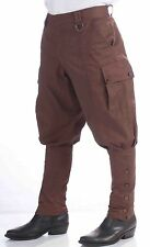 Steampunk Costume Victorian Cosplay Brown Riding Pants Steam punk - Fast Ship -