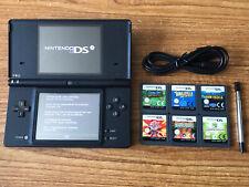 Consola de Sistema Portátil Negro Nintendo DSi paquete +6 Juegos Y Cargador
