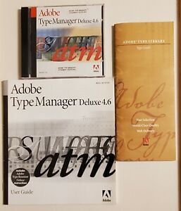 Adobe Type Manager Deluxe 4.6 for Apple Macintosh With User Guide Instructions