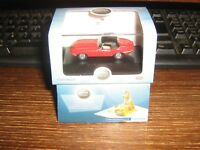 OXFORD DIE-CAST - JAGUAR E TYPE DHC - CLOSED ROOF - CARMEN RED - 00 / 1:76