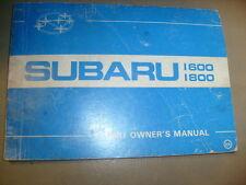 1983 Subaru 1600 &1800 owners manual good  /b4