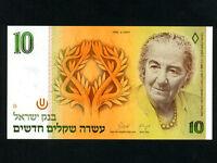 Israel:P-53c,10 New Sheqels,1992 * Golda Meir * UNC *