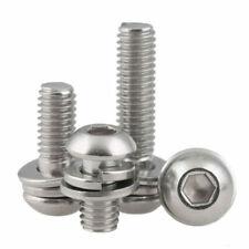 M3m4m5m6 A2 Stainless Sem Button Head Allen Socket Bolts Springampflat Washer