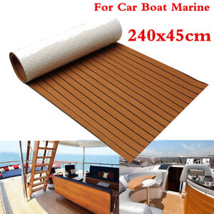 "Brown 94.5""X17.7"" Autos Car Boat Marine Flooring Yacht EVA Foam Mat Teak Decking"