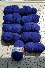 Lot de 10 pelotes de laine  phildar bleu marine