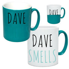 Personalised Funny Heat Changing Mug With Name Tea & Coffee Cool Rude Mugs