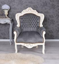 Thron Prunksessel barock Vintage Stil Barocksessel Retro Sessel