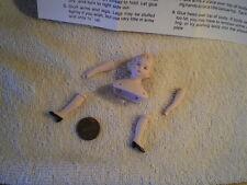 "Young Female Adult, Miniature, Porcelain, Vintg Cathy Hansen Doll Kit, 5 3/4""H"