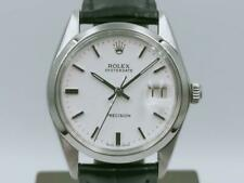 Authentic Rolex 6694 Oyster Date Precision Steel Men's 34mm Manual Watch