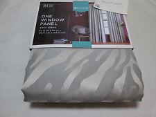 "Home from Target Grey Gray Zebra Rod Pocket Window Panel 54""x84"" New"
