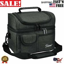 1Insulated Lunch Bag, Leakproof Thermal Bento Cooler Tote for Women and Men, NeW