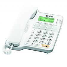 AT&T Corded Phone with Speakerphone and Caller ID/Call Waiting White CL2909