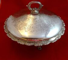 Oneida Silverplate Covered Dish with Pyrex Liner