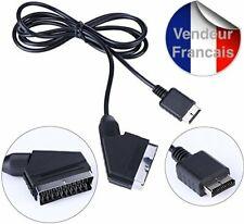Câble RGB Vidéo AV péritel  TV RGB pour Playstation PS1 PS2 PS3  Longueur 1,80 m