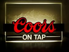 Vtg Indoor Electric Coors On Tap Beer Sign No.Ab493993-National Industrial-L@K