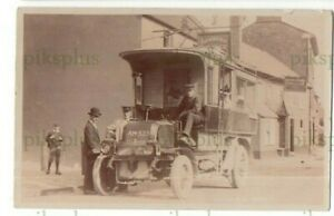 POSTCARD MOTOR BUS THE GEORGE HOTEL NETHER STOWEY SOMERSET HOLE REAL PHOTO 1906
