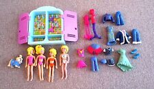 Polly Pockets Closet  4  Dolls Dog Clothes   Lot D3