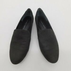Franco Sarto Leather Charcoal Black Loafers Women's size 8.5 M