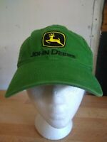 JOHN DEERE Nothing Runs Like A Deer Logo Green Baseball Cap Strapback Dad Cap