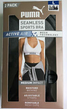 PUMA Seamless Adjustable Straps  Sports Bra for Women (2 Pack) * Variety *