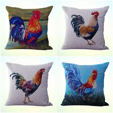 US Seller- 4pcs cushion covers rooster farm decor interior design ideas home