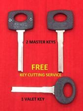 KEYS SET OF 3 FOR MERCEDES BENZ - 2 MASTER HU55-P & 1 VALET HU61-P