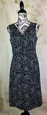 Gap womens sleeveless floral print stretch dress size 10 zip back faux wrap b12a