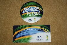 HYUNDAI FIFA WORLD CUP 2014 SET OF 2 TEAM BRAZIL CLINGS / DECALS (NEW)