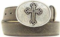 Nocona Belt Co. Women's Nocona Brown Crackle Cross Buckle Belt