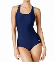 Speedo Navy Blue Women Size 6 Powerflex One-Piece Racerback Swimwear $68- 672