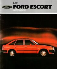 1982 Ford ESCORT Brochure / Catalog / Flyer with Specs: GT,GL,GLX,L,  1/82 issue